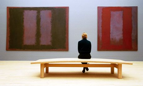 The Tate's Mark Rothko exhibit: a room with a view of the subconscious  http://www.guardian.co.uk/artanddesign/jonathanjonesblog/2011/mar/30/tate-modern-mark-rothko-room    Rothko's apocalyptic, wine-red paintings of illusory windows or doors take viewers to disorientating depths of the imagination
