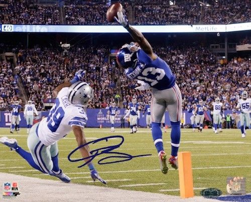 ODELL BECKHAM JR. Hand Signed 16x20 The Catch STEINER - Game Day Legends