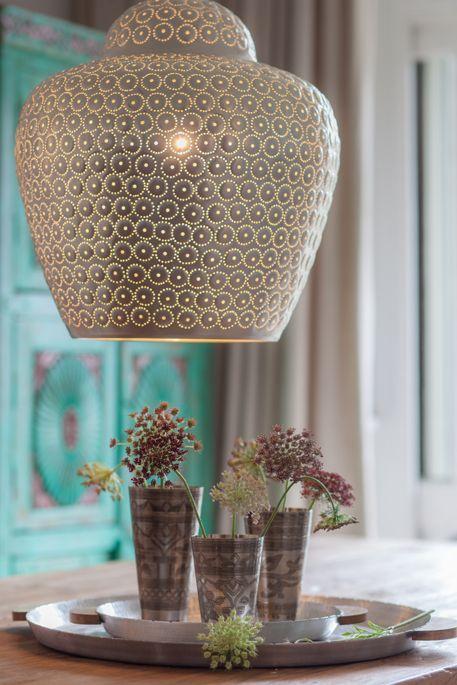 Suspension Lamp Bamboo 'ZAP' - natural - Ø53cm - Broste Copenhagen - Petite Lily Interiors