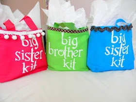 Big Sister Kit. Great idea for when the new baby comes! I wish I would have found this for Caleb at the hospital.