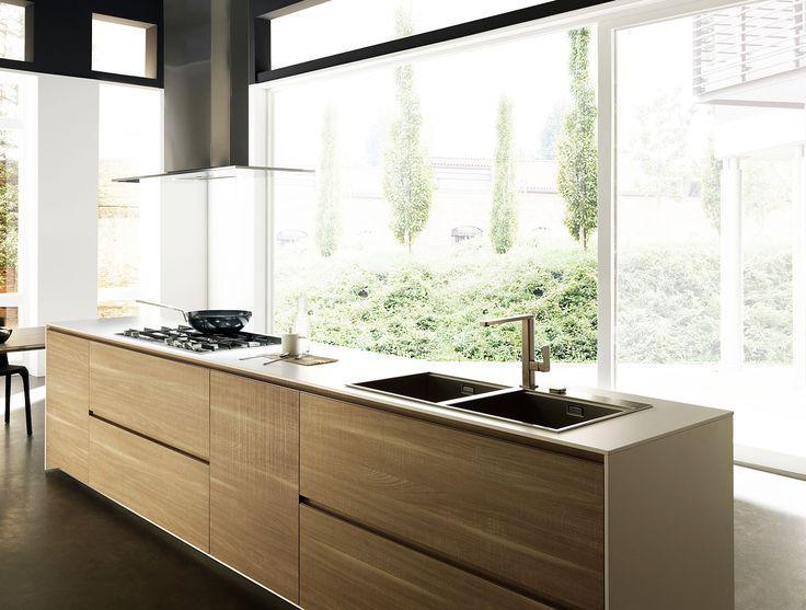 Marvelous Cuisine pur e blanche et bois dor LIGHT Composition