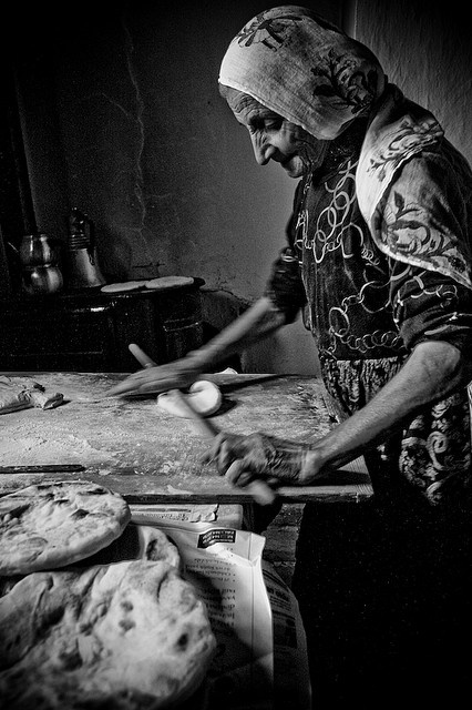 Old School!  I still have my yiayia's rolling pin that looks just like this.  She would roll out her own phyllo!!    amazing.