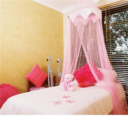 Pink Princess Mosquito Net Bed Canopy