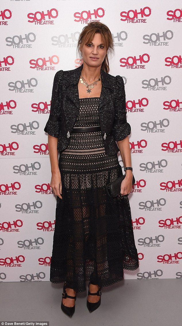 Sheer delight! It came as no surprise to see Jemima Goldsmith, 42, turned heads at the Soho Theatre Gala on Thursday, hinting at her lithe frame in a semi-sheer black gown