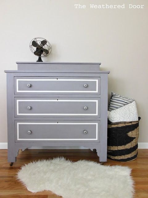 DIY Home Crafts DIY A Plum Grey Dresser With Modern Lines DIY Home Crafts