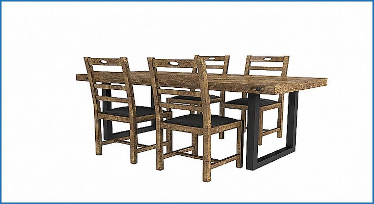 New Industrial Style Dining Table and Chairs - http://countermoon.org/industrial-style-dining-table-and-chairs