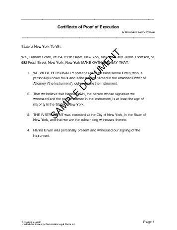 Affidavit of Execution (USA) - Legal Templates - Agreements ... - sample affidavit