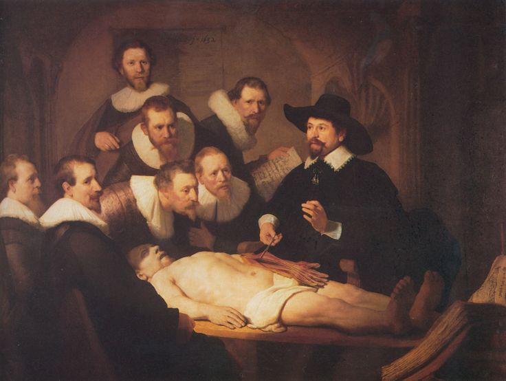"Rembrandt- ""Lekcja anatomii doktora Tulpa"" 1632"