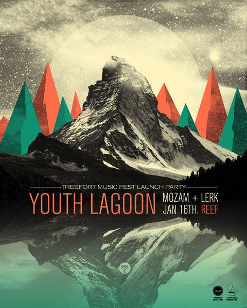 Youth Lagoon - gig poster, designed by JAMES LLOYD.