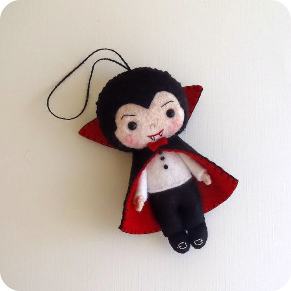 Halloween Ornament  Dracula pdf Pattern  Instant by Gingermelon, $4.50. These would be so cute to make for halloween to give to your children or grandchildren. They are so cute and a very cool treat.