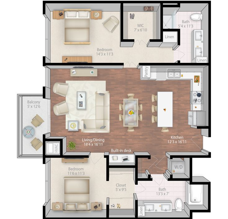 Best 25 condo floor plans ideas on pinterest apartment for 4 bedroom luxury apartment floor plans