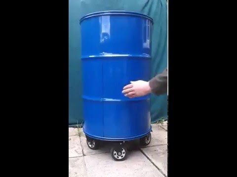 Pretty nice the ultimate toolbox made of a barrel - YouTube