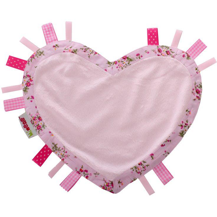Cornet de glace Surprise doudou plat coeur rose : Minene - Coffret doudou - Berceau Magique
