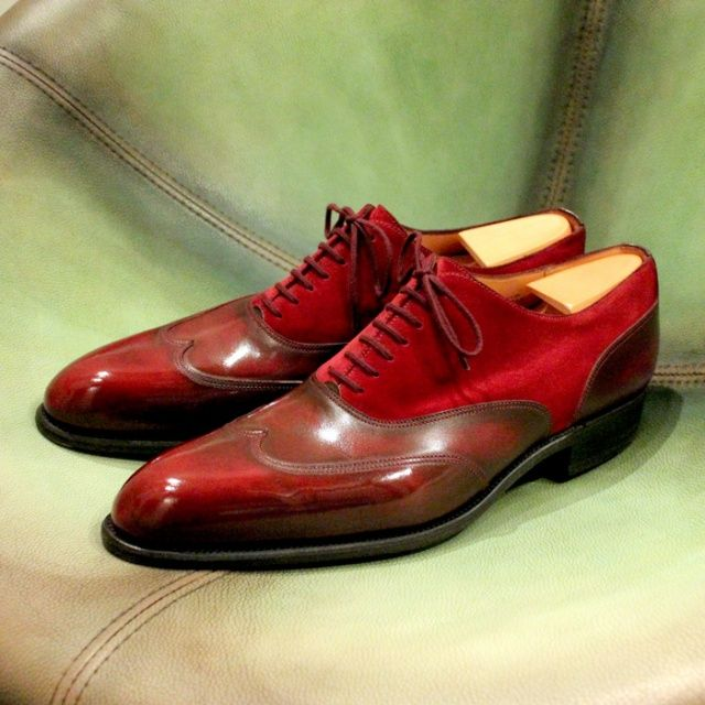 Red shoes by J.M. Weston http://www.theshoesnobblog.com/