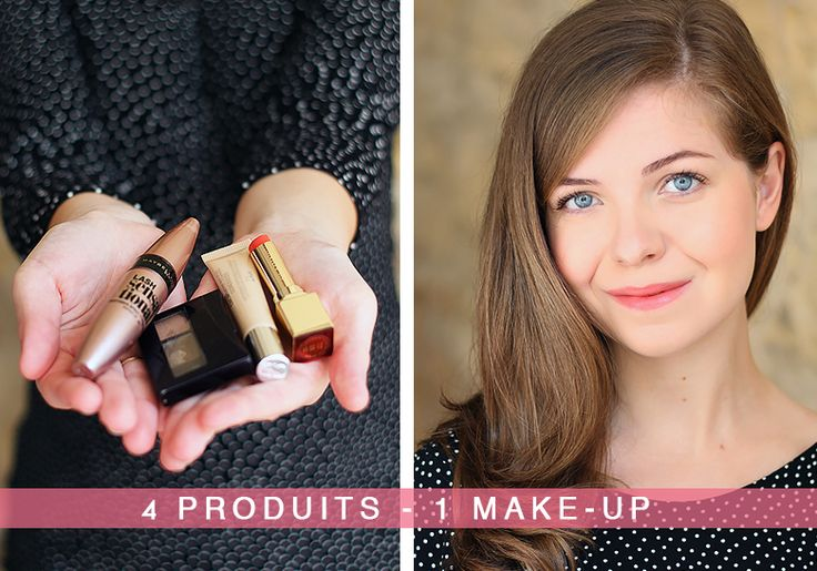 Réalisez un make-up frais et naturel avec seulement quatre produits de maquillage !