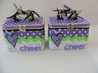 Whimsical Creations by Ann: Cheerleading Tins Perfect Competition Gift Cheer Bows Photos Etc