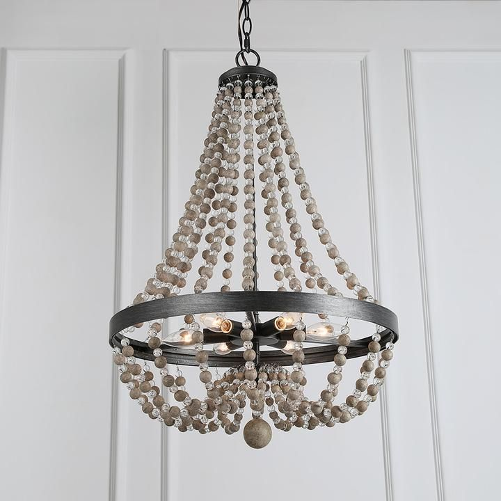Wood Beaded Draped Chandelier Wood Bead Chandelier Wooden Bead Chandelier Wood Light Fixture