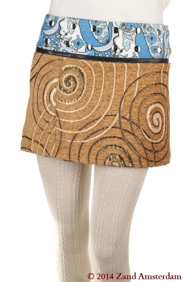 Jacquard short wrapskirt [JacquardShort-24212] - €39,99 : Zand Amsterdam, Unique, colorful, one-size-fits-all wrapskirts and dresses by Yaniv Shapira. Produced fairtrade in India #FairlyTraded #Skirt #OneSize