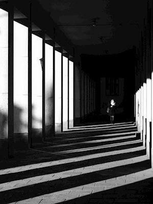 Vaiva Adomenaite - Shadow play. Black and white pillars.
