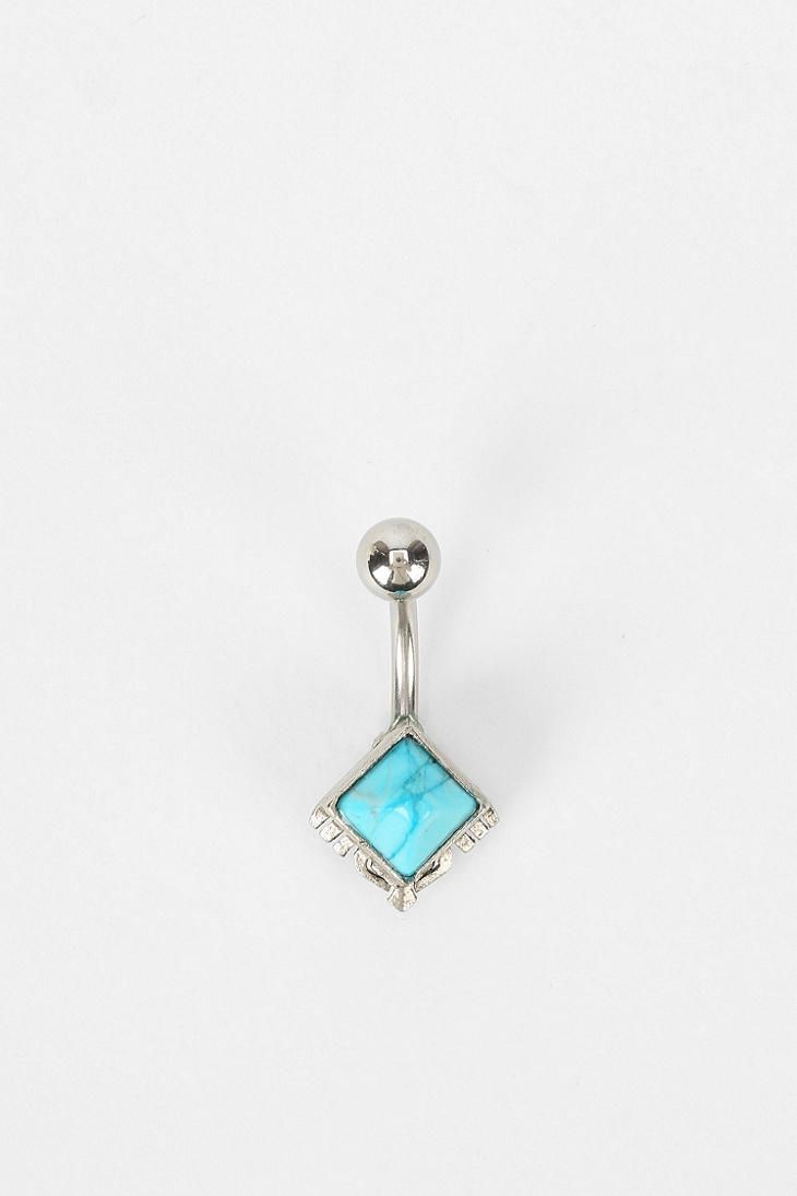 Boho Belly Ring  Really like this color