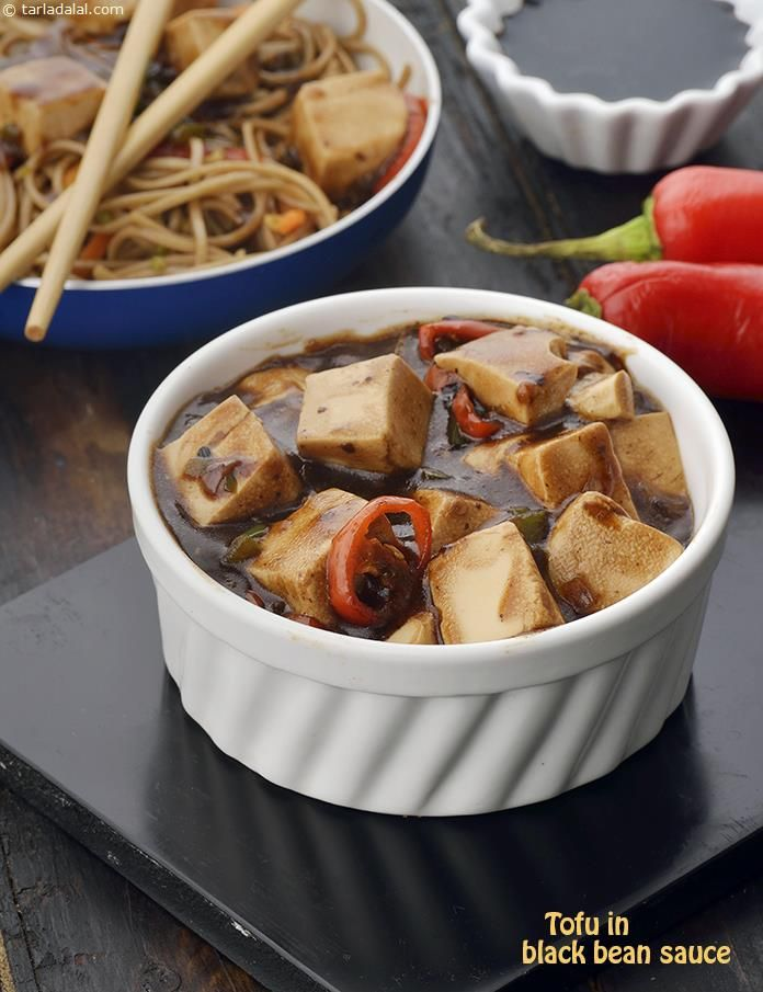 Tofu in Black Bean Sauce recipe | by Tarla Dalal | Tarladalal.com | #41393