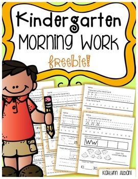 Kindergarten Morning Work Practice with Letters and Number