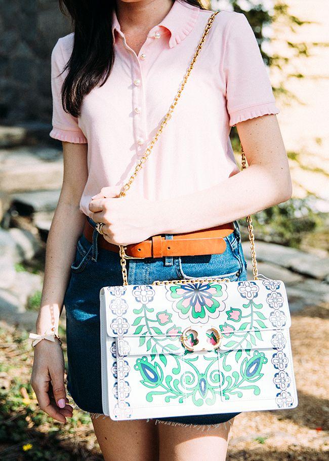 Floral print bag // Tory Burch
