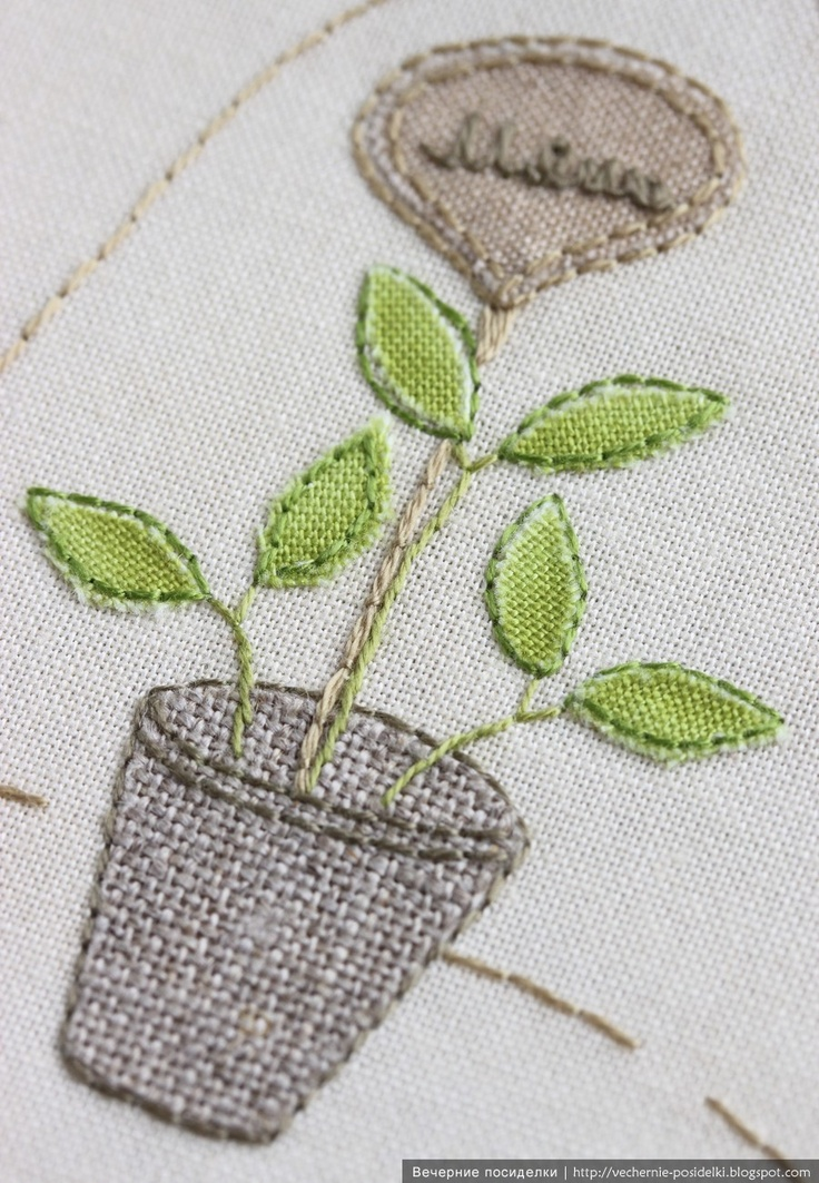 Embroidery with modern look