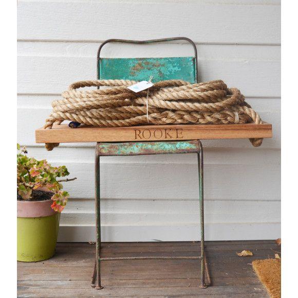 Personalised wooden garden swing | hardtofind.
