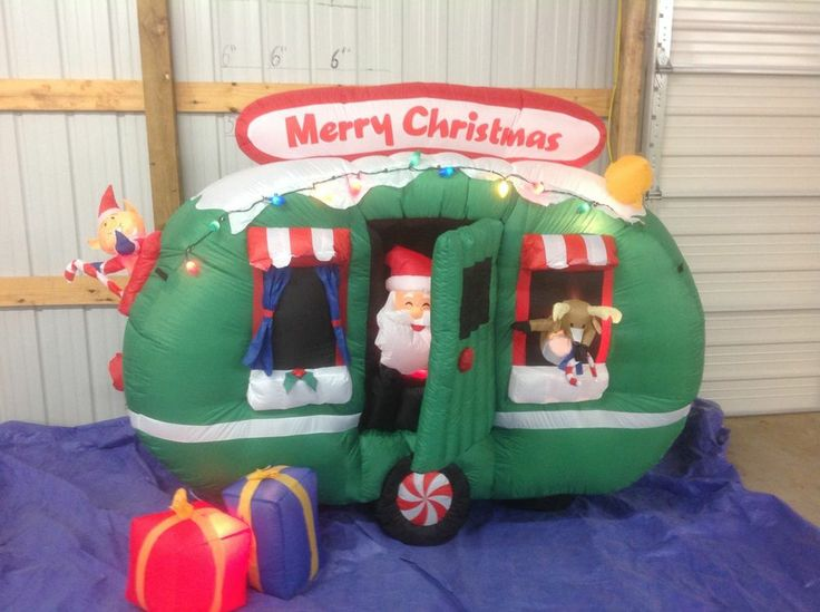 Gemmy PROTOTYPE Airblown Inflatable Christmas Animated Santa in RV # 85830