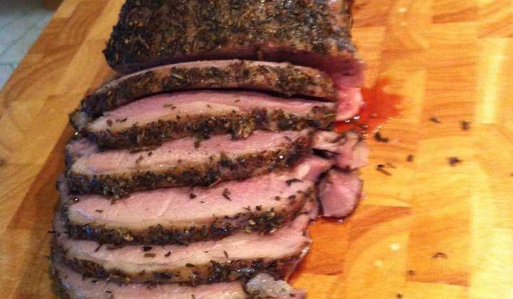 Härligt och god smak med örter och vitlöksmarinerad stek för dem som gillar kryddor.