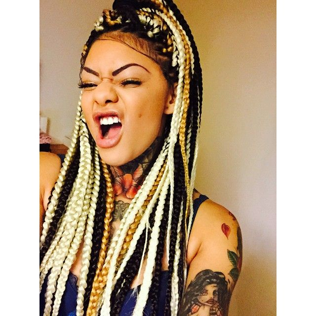 Dope Hair Hairstyle Box Braids Extensions Plaids High - African American Braided Hairstyles