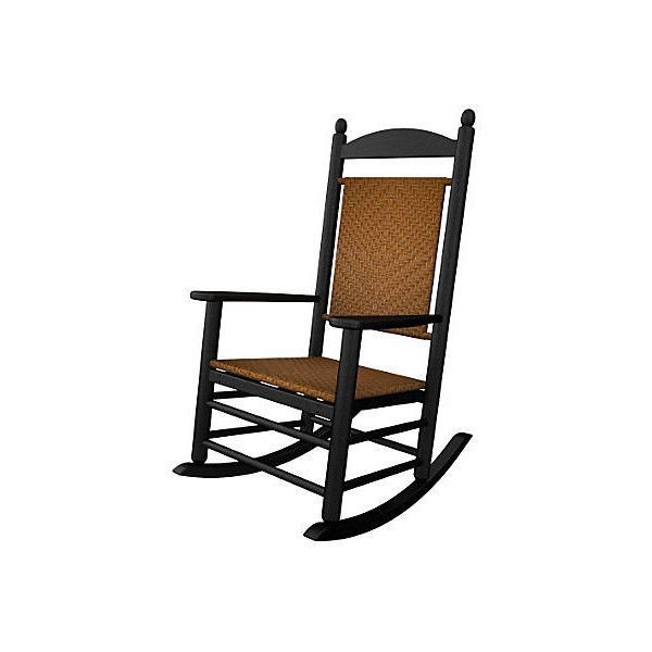 Sagamore Rocker Black/Tigerwood Outdoor Rocking Chairs ($359) ❤ Liked On  Polyvore Featuring Home, Outdoors, Patio Furniture, Outdoor Chairs, Outdoor  Patio ...