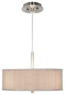 "Contemporary Desert Sand Textured Silk 16"" Wide Pendant Chandelier - contemporary - chandeliers - Lamps Plus"