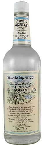 Devils Springs Vodka: Best Vodka to Infuse – 151 Proof Vodka Base