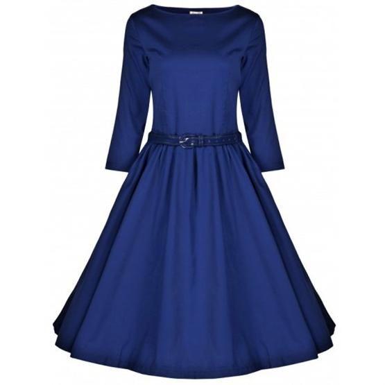 Retro šaty Lindy Bop Holly Midnight Blue