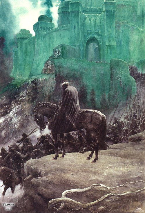 frodoforever:  The Witch King, by Alan Lee:
