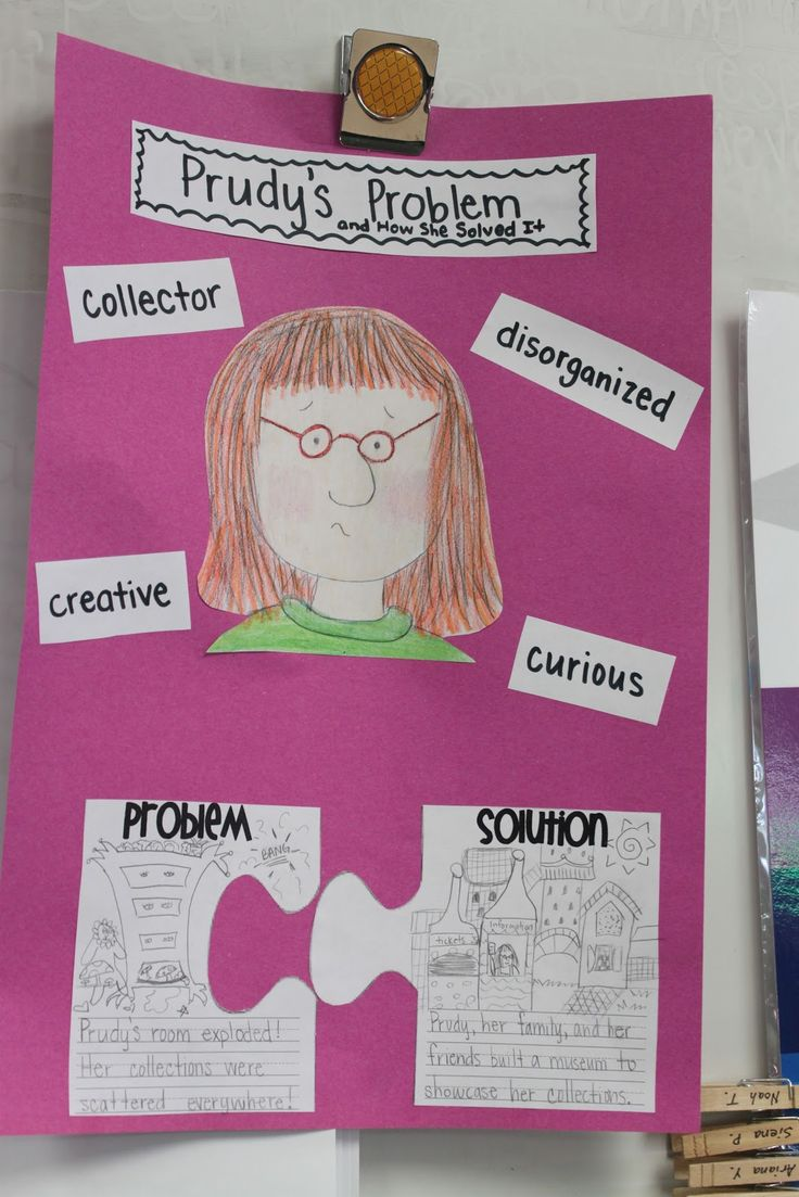 READING ACTIVITY~  Problem/solution and character traits activity, all in one.  Great idea!