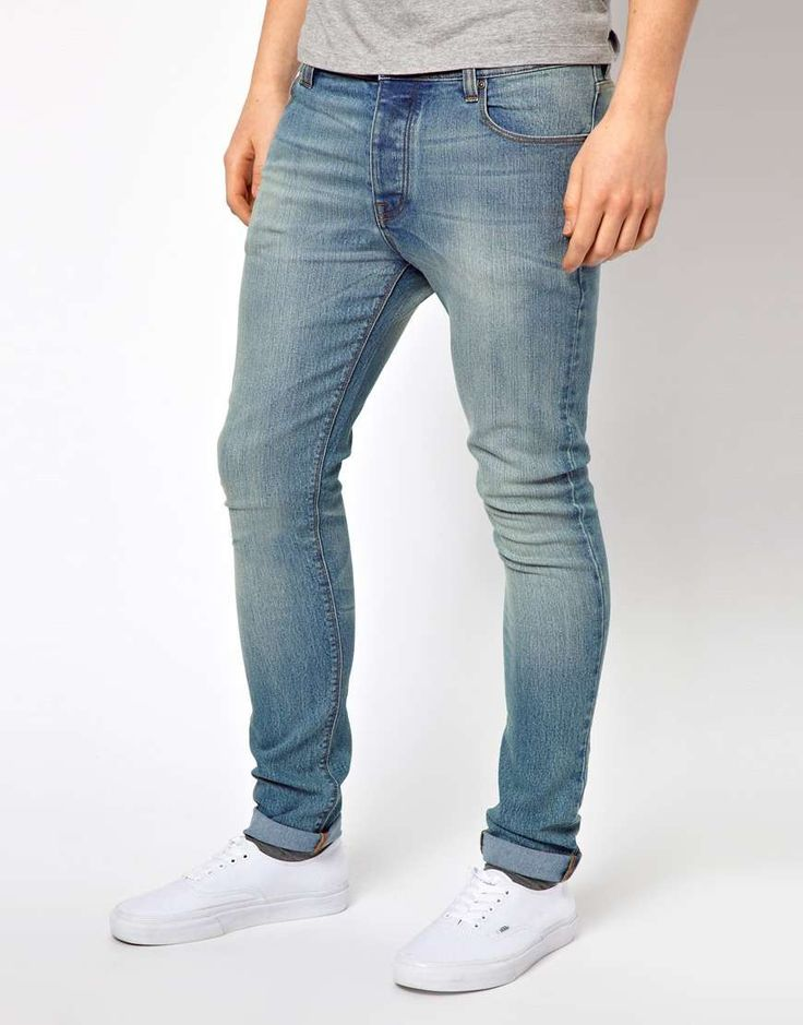 ASOS Super Skinny Jean In Light Wash on Wantering |  White Shoes+Light wash jeans= Perfect