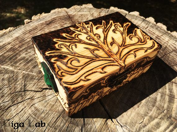 Tree of Gondor Box  Lord of the Ring di GigaLabWoodCreations