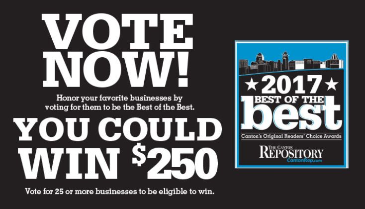 Vote for Gasser Jewelers as one of the 2017 Best of the Best in the Canton Repository. Go to www.cantonrep.com/contests Best Jewelry Service & Repair Best Jewelry Store Voting ends on June 10th