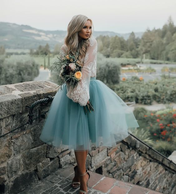 Our gorgeous Juliet skirt is made with layers of dreamy tulle in a beautiful shade of dusty blue. - this would be perfect for so.ething like going to the ballet or theater