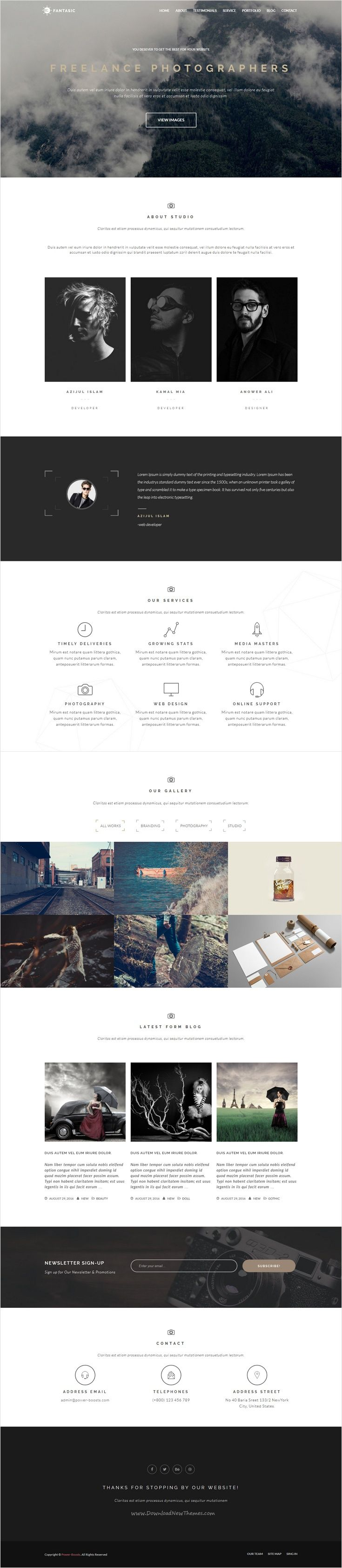 Fantasic is clean and modern designed 6 in 1 Layers #WordPress Theme for…