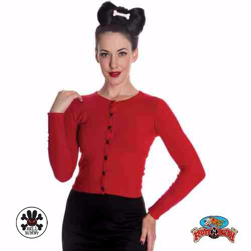 """Paloma Cardigan in Black by Hell Bunny You know how much a red outfit can make a woman stand out and super hot!!    #Red #AutumnFashionforWomen #AutumnFashionIdeas #AutumnFahion #Cardigan #HellBunny #RuffnReadyAus """""""