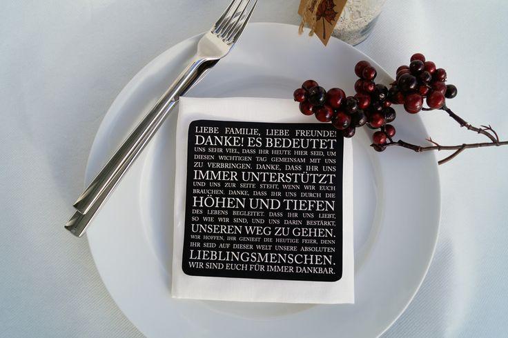 Freebie - Dankesworte als Tischdekoration an der Hochzeit
