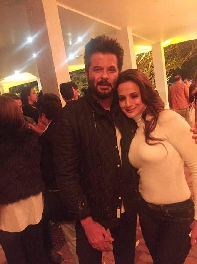Ameesha Patel and Anil Kapoor at Salman Khan's birthday bash. #Bollywood #Fashion #Style #Handsome #Beauty #Sexy #Hot