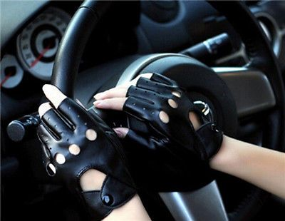 PU-Fashion-Half-Finger-Driving-Women-Gloves-leather-gloves-Fingerless-guantes