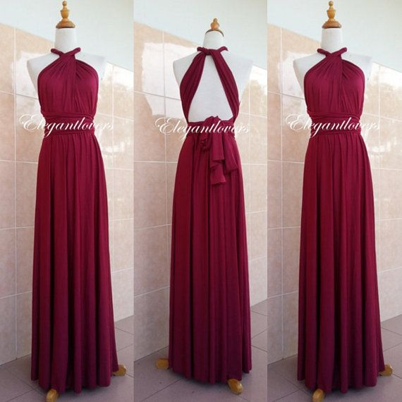 Check out this item in my Etsy shop https://www.etsy.com/uk/listing/274584232/convertible-dress-maroon-wedding-dress