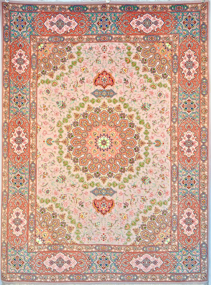 Tabriz Silk Persian Rug | Exclusive collection of rugs and tableau rugs - Treasure Gallery Retail Price: $9,800.00  You Save: 64% ($6,300.00)  Item#: 100  Category: Small(3x5-5x8) Persian Rugs  Design: Shahsavarpour  Size: 150 x 200 (cm)      4' 11 x 6' 6 (ft)  Origin: Iran  Foundation: Silk  Material: Wool & Silk  Weave: 100% Hand Woven  Age: Brand New  KPSI: 500  You Pay :$3,500