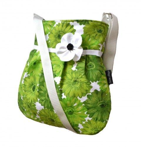Kabelka Miss Green zelená kabelky květy bags green